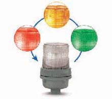 XTRA-BRITE Flashing or Steady LED Multi-Color Status Indicators 105XBRi Series
