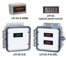 4-1/2 Digit Black / Amber / Green / Red Display LPI-3C, LPI-3C-A, LPI-3C-G or LPI-3C-R