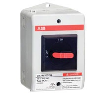 Enclosed Non-Fused 3 Phase Motor Disconnect Switch ABB eOT Series