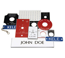 Kele Engraved Phenolic Labels Labels