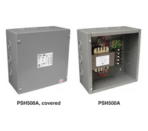 Functional Devices Class 2 Enclosed Power Sources PSH200A, PSH300A, PSH500A, PSMN300A, and PSMN500A
