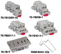 SE-Magnecraft Relay Sockets 70-78xD, 70-781T Series
