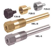Kele Sensor Thermowells and Well Adapters WEL-B, WEL-S, F2B-D, F2N-B, F2S-D