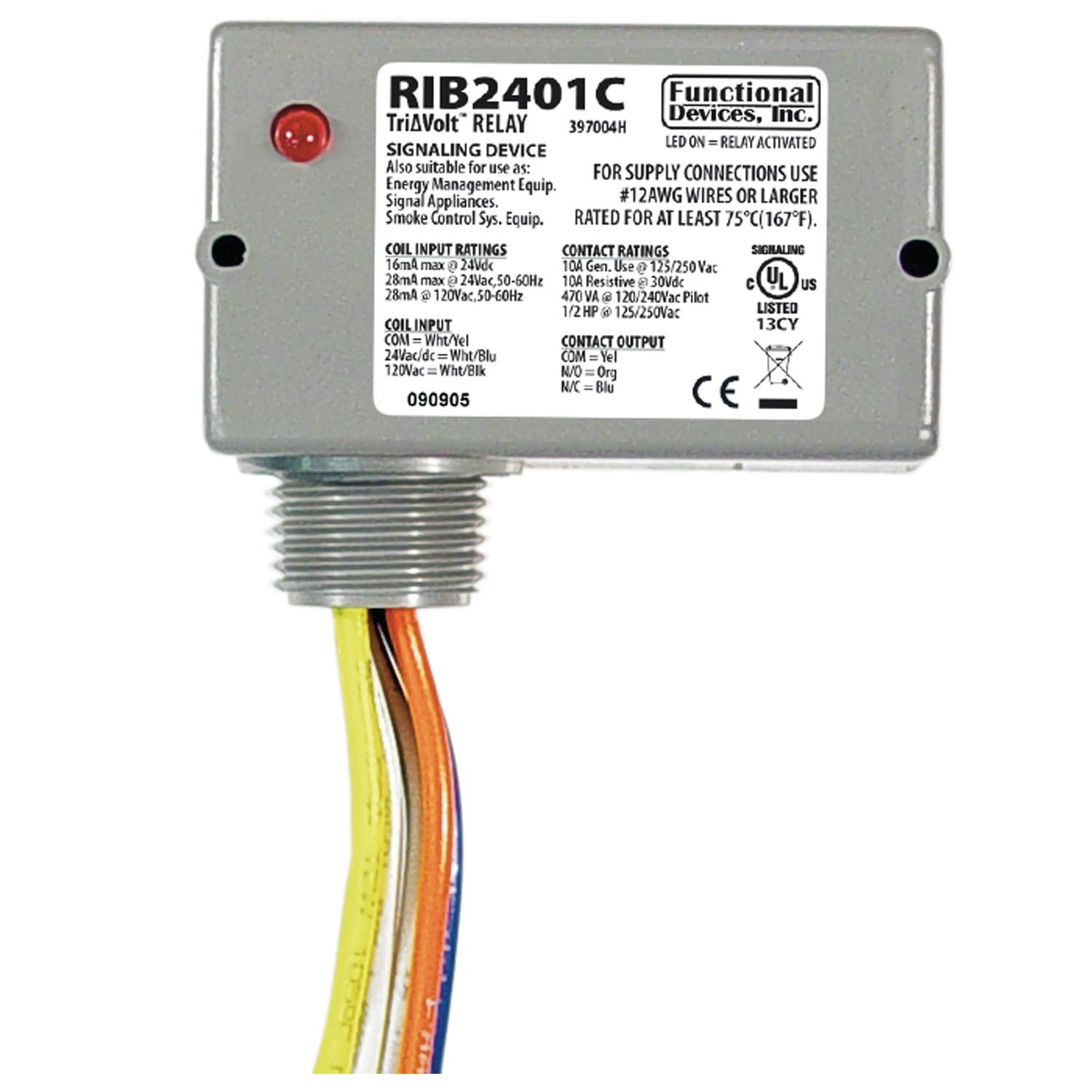 Functional Devices Rib2401c 10pak Relays Contactors Dc Contactor Wiring